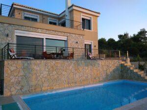 Costa's Sunset Villa Ενοικιαζόμενη Βίλα με Πισίνα στον Θεολόγο Φθιώτιδας